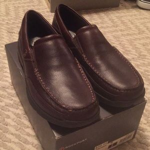 Rockport slip on loafers.